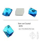 Multicoloured Elliptic Crystal Sew on Stone (DZ-3070)