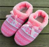 Women′s Knit Indoor Slippers Fashion Ladies Warm Slipper