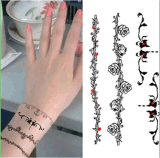 Fashion Colorful Bracelet Tattoo Stickers Art Tattoo Sticker