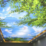 Forest Canopy Drop Ceiling Fluorescent Decorative Ceiling Cover Skylight Film