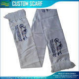 Football Scarf, Polyester Scarf, Screen Printing, White Scarf (J-NF19F06014)