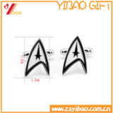 Custom Zinc Alloy Cufflink for Promotion Gift