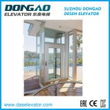 Good Quality Glass Sightseeing Panoramic Observation Lift with Vvvf Device