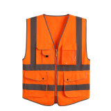 100% Cotton Orange Lime High Visible Mesh Hi-Vis Vest