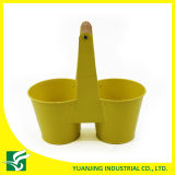 Wholesale Double Garden Flower Pots with Tall Handle