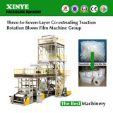Three to Seven Layers Co-Extruding Traction Rotating Film Blowing Machine