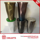 Double Wall Gradient Diamond Shape Straw Stainless Steel Cup, Travel Mug