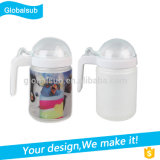 Factory Sale Sublimation Glass The Oil Can with Handle and Lid