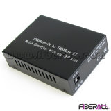 1000m Optical Media Converter with 1X9 Fiber Module mm 550m