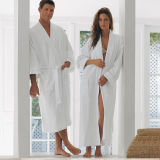 Cotton Velvet Luxury Bath Robe for Hotel Use