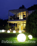 Modern Outdoor LED Lights Ball Set, Garden LED Color Changing Flatball, Cordless LED Furniture,