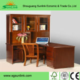 European French Crown Back Solid Wooden Leather Bed / Bed Room Furniture Sets Sr033