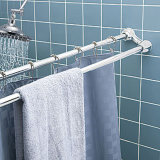 Double Extensible Shower Curtain Rod And Towel Bar (HM-2070)