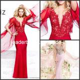 V-Neck Mermaid Evening Dresses Court Train Bridal Dresses W14871