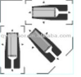 Tee Rosette - 3 Single Linear Strain Gauge