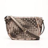 Woven Splice Snake Skin Side Women Fashion Crossbody Bag (MBNO037104)
