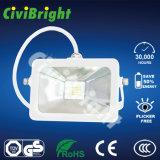2017 White IP65 10W Slim Pad LED Floodlight