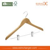Bamboo Hanger with Two Clips (MB05-2)
