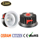 5-Year′ Warranty Recessed Hotel LED Lighting 40W COB LED Downlight