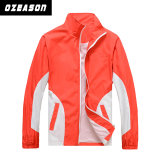 Mens High Collar Zip up Red Polar Fleece Jacket
