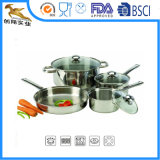 Mirror Polished Stainless Steel Cookware with Cover