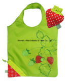 Foldable Shopper Bag, Fruits Strawberry Style, Reusable, Gifts