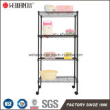 Basic 4 Shelf Black Affordable Adjustable Home Storage Room Metal Open Wire Shelving Unit
