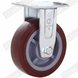 Heavy Duty PU Fixed Casters (Red) (Round Surface) (G4201)
