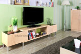 Modern Wooden Birch Veneer UV Matt Clear Lacquer TV Stand (AD-FY-N201-DSG)