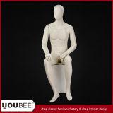 Wonderful Elegant Sitting Male Mannequin in Color Cream