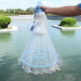 Sport Multifilament Nylon Drawstring Fishing Cast Net with Plastic Frisbee (CTN302)