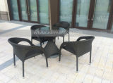 Mtc-153 Outdoor Rattan Coffee Table and Chair Set for Outdoor