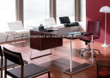 Modern Leather MDF Office Desk Office Table (S109)