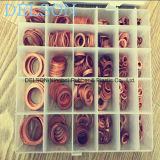 Sealing Ring Copper Gasket Kit/Assortment 30size 568PCS Copper Washer