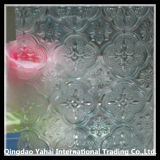 4mm Decorative Clear Flora Patterned Glass