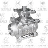 3PC Butt Weld Ball Valve CE Certified with Mounting Pad