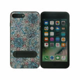 Standing Glitter PU Paste TPU Protective Mobile Phone Case for iPhone 8 Plus