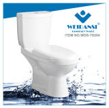 Weidansi Ceramic Wash Down S-Trap Two Pieces Toilet (WDS-T6204)