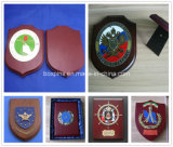 MDF Wooden Wall Sheild Metal Insert Wood Trophy Plaque