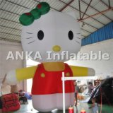 Big Hello Kitty Cartoon Inflatable Character for Decoration