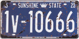 Vintage Embossed Custom Sign License Plate Tin Sign Printing
