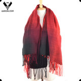 Wholesale Cheap Women′s Color Change Knit Acrylic Cashmere Scarf Shawl
