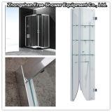 Hot Shower Enclosure Sliding Glass Stainless Steel