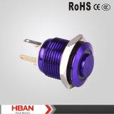 16mm High Head Metal Push Button Switch