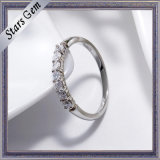 Fashion Clear Cubic Zirconia Silver Halo Ring Jewellry