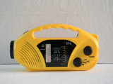 LED Emergency Light ABS Material Am/FM/Wb Band Solar Dynamo Radio