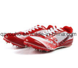 High Top Men′s Jump Sprint Track & Field Shoes Spikes Cleats