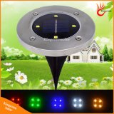 4 LED Outdoor Solar Buried Lamp LED Ground Lamp New LED Garden Lawn Light Solar Powered LED Underground Lights