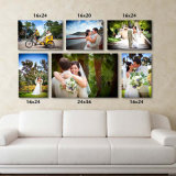 Any Sizes High Resolution Full Color Custom Stretched Canvas Prints From Photos
