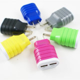ABS Dual USB Mobile Phone Wall Charger for Smartphone